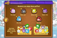 Puffle Party 2016 app interface adoptions page 2