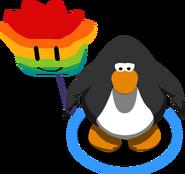 Rainbow Puffle Balloon in-game