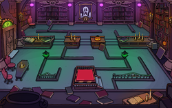 Halloween Party 2014 Puffle Hotel Library