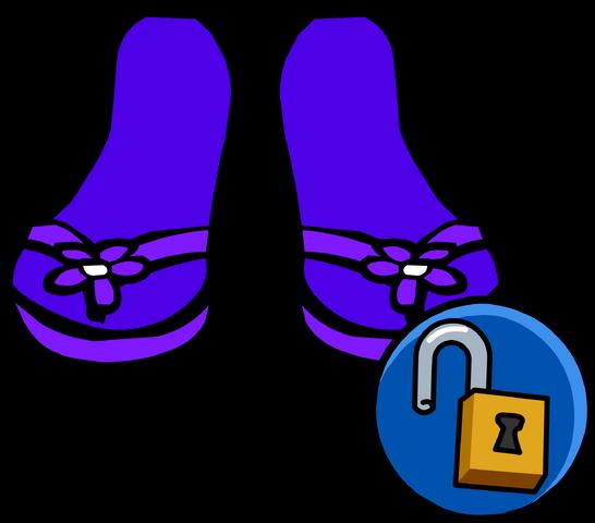 File:Purple Sandals unlockable icon.png