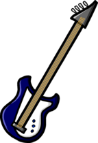 Blue Electric Bass clothing icon ID 729