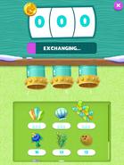 The Exchange menu exchanging