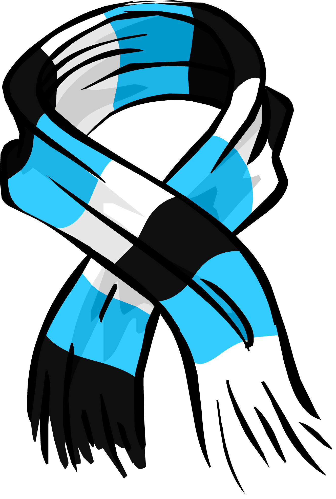 Blue Striped Scarf Id 3035 Club Penguin Wiki Fandom