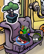 Bonsai tree pin in ski lodge