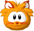 Orange cat 3d icon