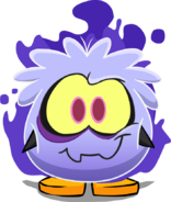 Ghost Puffle Costume on Player Card