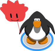 Red Puffle Balloon in-game