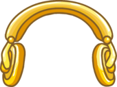 Golden Headphones