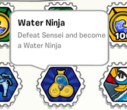 Water ninja stamp book