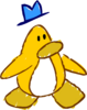 Doodle Dimension penguin Yellow hat