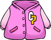 Pink Letterman Jacket clothing icon ID 279