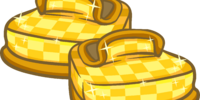 Gold Checkered Shoes
