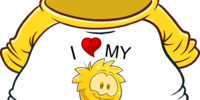 I Heart My Gold Puffle T-Shirt