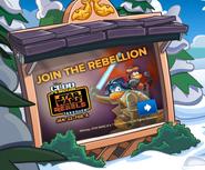 Join The Rebellion - Club Penguin app Billbord