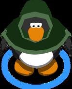 Green Hooded Cloak in-game