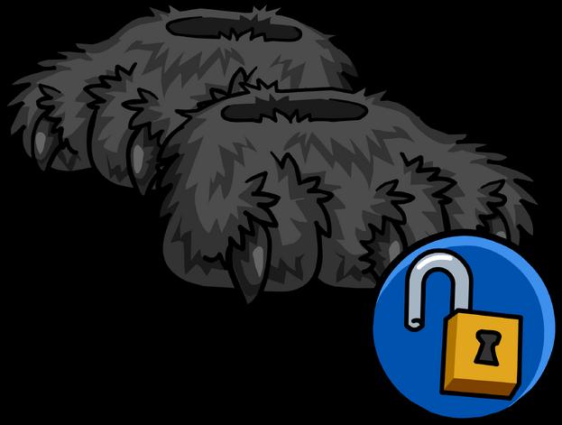 File:Grey Werewolf Feet clothing icon ID 16132.png