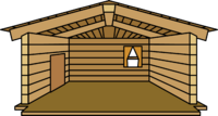 Log Cabin igloo icon ID 11