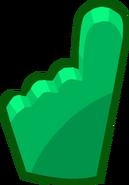 Penguin Cup 2014 Emoticons Green Foam Finger