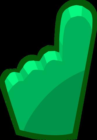 File:Penguin Cup 2014 Emoticons Green Foam Finger.png