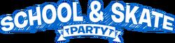 School & Skate Party Logo(EN)