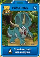 Aqua Triceratops Card