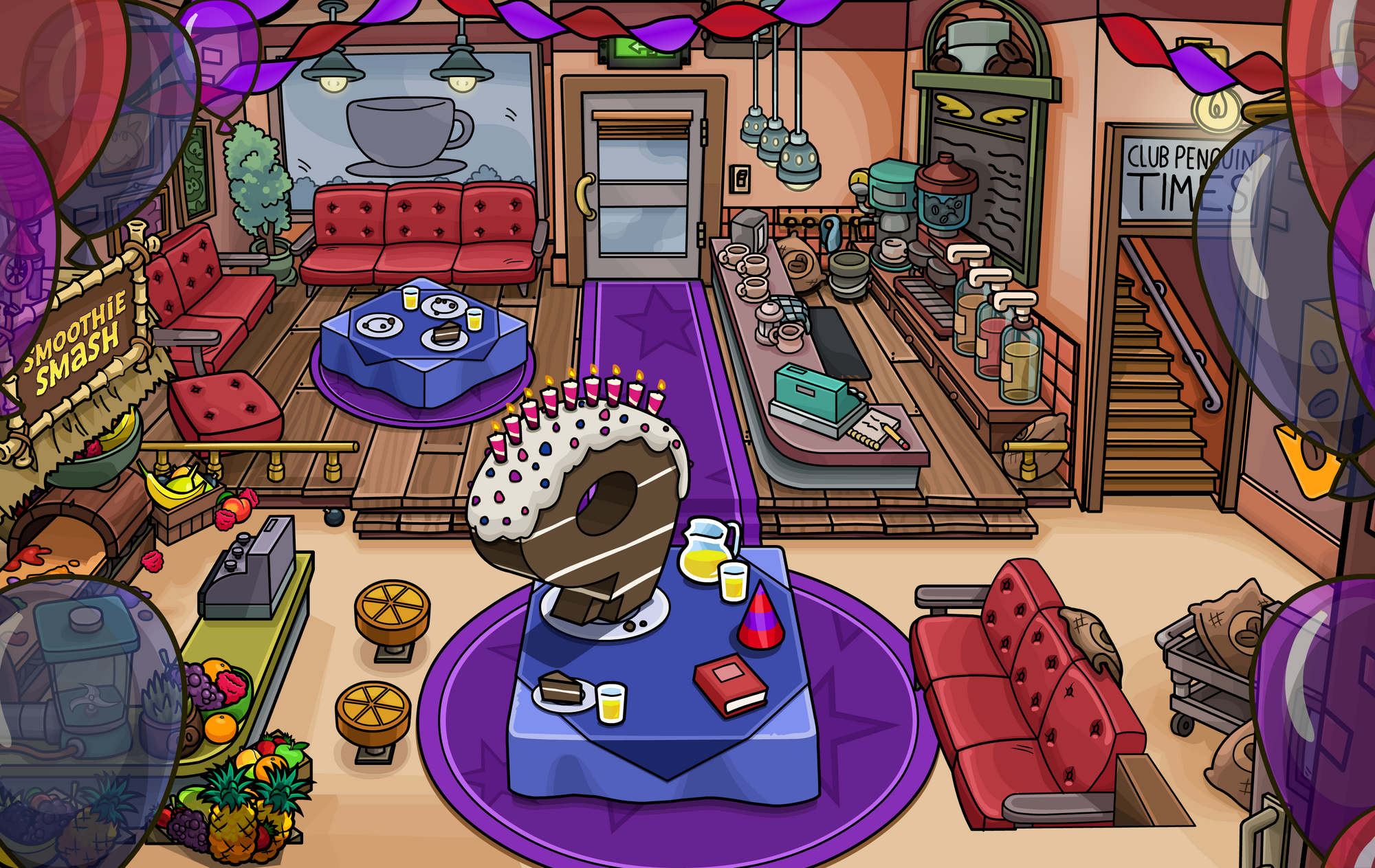 9th anniversary party club penguin wiki fandom powered by wikia