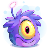 Purple Alien Puffle adoption