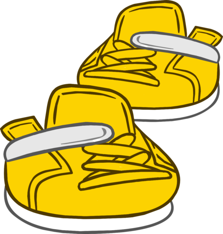 File:Gold Sneakers clothing icon ID 6176.png