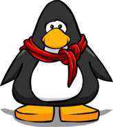Red Cotton Scarf from a Player Card