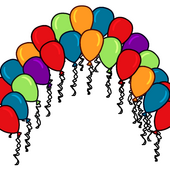 Balloon Arch Background photo