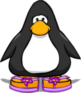 Purple Flower Sandals from a Player Card