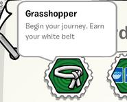 Grasshopper stamp book