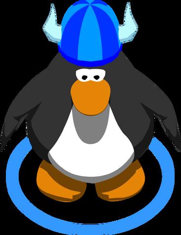 File:Blue fuzzy viking helmet.png