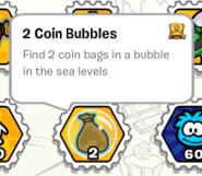 2 coin bubbles stamp book