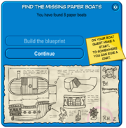 Paper Boat Scavenger Hunt 2008 Build the blueprints