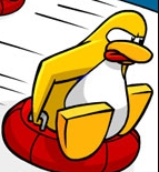 File:Yellow penguin with tongue skiing..PNG