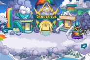 Rainbow Puffle Party Town