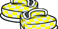 Yellow Checkered Shoes