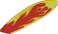 Fire Surfboard