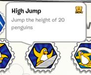 High jump stamp book