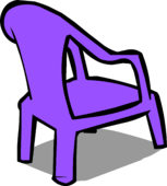 Purple Plastic Chair sprite 004