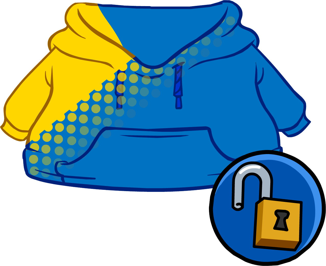 Blue Blend Hoodie clothing icon ID 14969.PNG