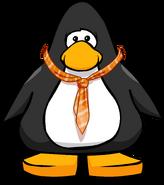 Orange Tie on a Player Card