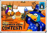 Igloo contest halloween postcard