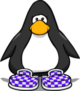 Purple Checkered Shoes Player Card