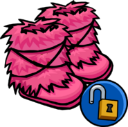 Pink Fuzzy Boots unlockable icon