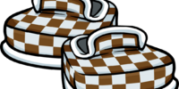 Brown Checkered Shoes