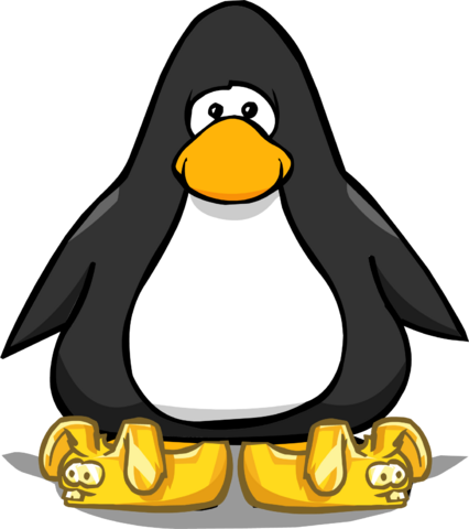 File:Gold Bunny Slippers from a Player Card.png
