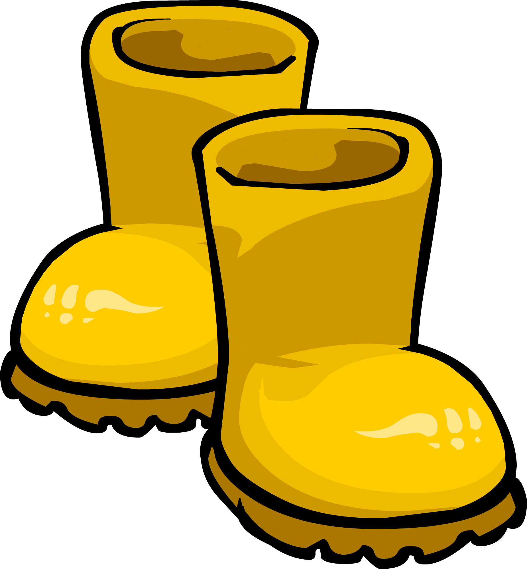Yellow rubber boots club penguin wiki fandom powered by wikia