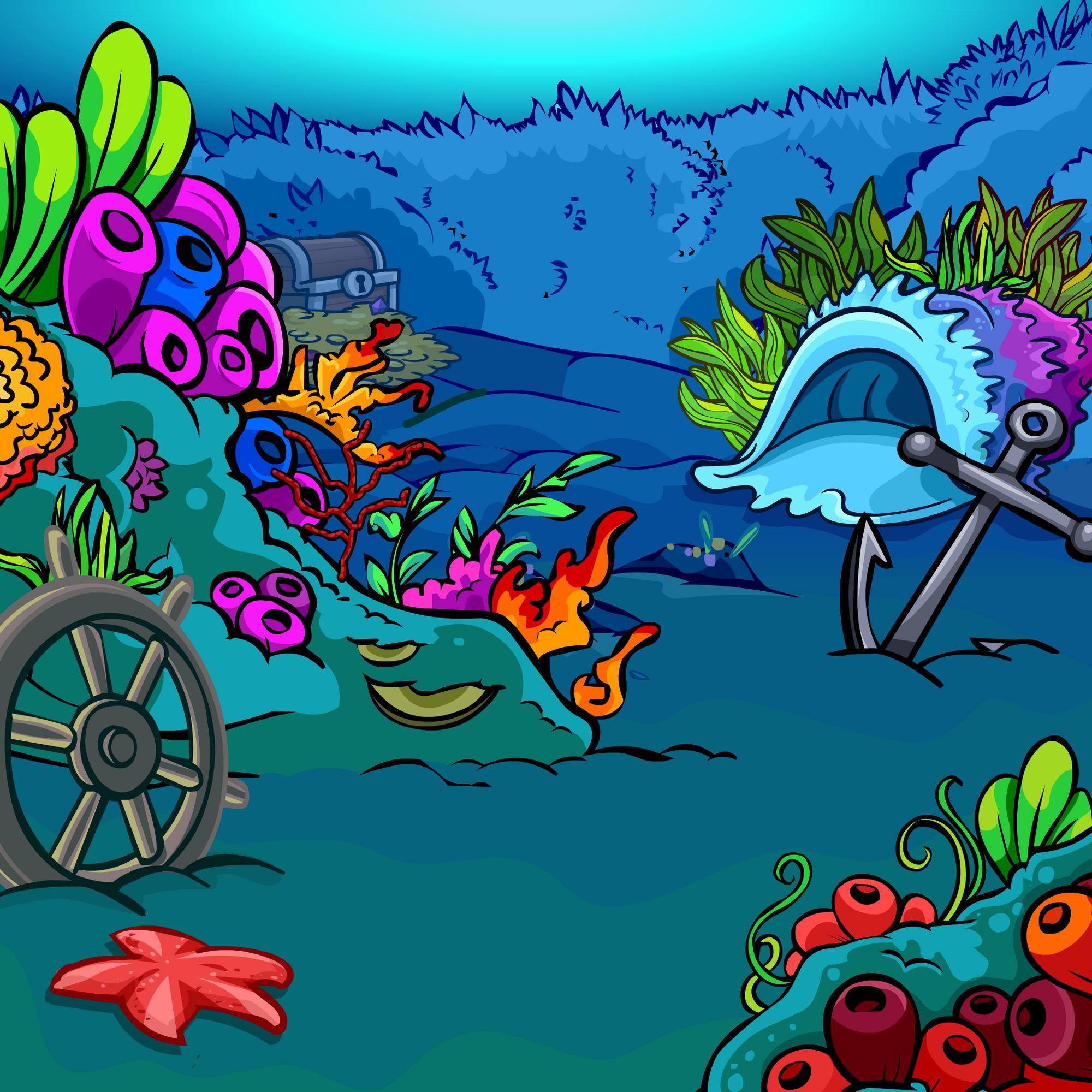 Coral Reef Background: Coral Reef Background